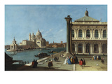 The Entrance of the Grand Canal, Venice with the Piazzeta & the Church of Santa Maria Della Salute Prints by Canaletto (Follower of)