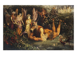 Titania and Bottom: Scene from a Midsummer-Night&#39;s Dream Reproduction proc&#233;d&#233; gicl&#233;e par John Anster Fitzgerald