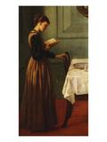 Study of a Girl Reading Impression giclée par Valentine Cameron Prinsep