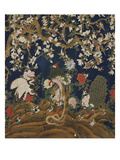 Detail from a Set of Chinese Painted Wallpaper Panels Depicting Pheasants, Phoenix and Peacocks Reproduction proc&#233;d&#233; gicl&#233;e par Chinese School 