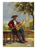 The Guitar Player Giclee Print by Julio Vila y Prades