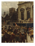 Whitehall: January 30th, 1649 Premium Giclee Print by Ernest Crofts