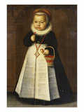 Portrait of a Girl, Aged 1 Poster by Jan Claesz