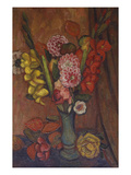 Flowers in a Green Vase Giclee Print by Mark Gertler