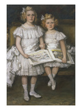 Portrait of H. D. and G. Wiegman, Daughters of Hugo Wiegman, Banker in Amsterdam Giclee Print by Therese Schwartze