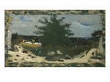 The Sunny Road, Laville Pond; La Route Ensoleillee, L'Etang Laville Giclee Print by Edouard Vuillard