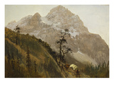 Western Trail, the Rockies Prints by Albert Bierstadt