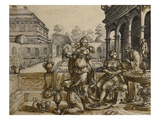 David and Bathsheba Prints by Flemish-German School