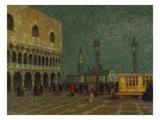 Venice, St. Mark's Square; Venise, La Place St. Marc Gicléetryck av Henri Le Sidaner