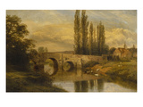 Fittleworth Old Mill and Bridge, on the Rother, Sussex Premium Giclee Print by George Cole