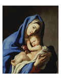 The Madonna and Child Giclée-tryk af Massimo Stanzione