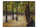 In the Tiergarten, Berlin Poster by Max Liebermann