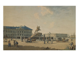 The Statue of Peter the Great in St. Petersburg Giclee Print by Russian School