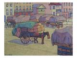 Hay Carts, Cumberland Market Posters by Robert Bevan
