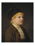Portrait of a Young Boy, Possibly Sammeli Niederhusler Prints by Albert Anker