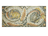 A Late Roman Byzantine Marble Mosaic Panel Depicting a Rabbit and a Duck, Each Enclosed Within a… Prints