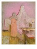 The Morning Cup of Tea. La Tasse De the Du Matin Poster von Edouard Vuillard
