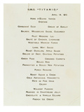 An Important First Class Passenger Menu from the R.M.S. Titanic, Cafe Parisien Giclee Print