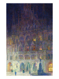 The Old Town Hall in Marienplatz, Munich; Altes Rathaus, Marienplatz, Munich Prints by Charles Palmier