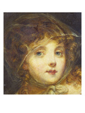 A Young Girl, Bust Length, Wearing a Headscarf Posters by Jean-Baptiste Greuze (Attr to)