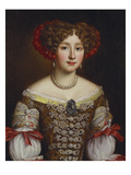 Portrait of Anna Maria Louisa De' Medici (1667-1743), Half Length, in a Brown Dress Bejewelled… Prints by Jacob Ferdinand Voet