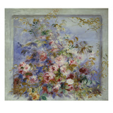 Roses in a Window; Roses Dans Une Fenetre Poster von Pierre-Auguste Renoir