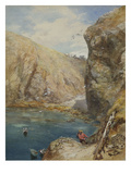 The Landing Place at Havre Gosselin, Sark Giclee Print by Paul Jacob Naftel