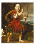 Portrait of a Boy, Full Length, in a Classical Costume with a Bow and Quiver of Arrows,… Prints by Nicolaes Maes