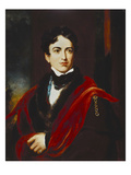 Portrait of John George Lambton, 1st Earl of Durham, Gcb, Mp (1792-1840), in a Dark Coat, with a… Giclee Print by Thomas Lawrence (After)