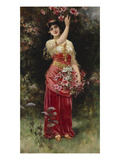 An Oriental Flower Girl Print by Eisman Semenowsky