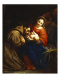 The Holy Family with St. Francis Wydruk giclee autor Jacob Van Oost