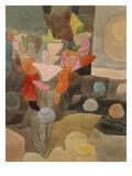 Stilleben med gladiolus, Still Life with Gladioli Giclée-tryk af Paul Klee