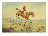 Taking a Fence Giclee Print by Henry Thomas Alken