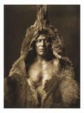 Bear's Belly-Arikara 1908 Giclée-tryk af Edward S. Curtis