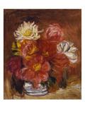 Dahlias; Les Dahlias Giclee Print by Pierre-Auguste Renoir