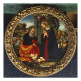 The Nativity, with Mary and Joseph on the Way to Bethlehem, the Annunciation to the Shepherds and… Giclee Print by  The Master of Marradi