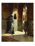 The Moorish Guard, the Alhambra Prints by Rudolphe Ernst