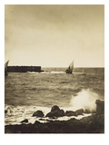 The Broken Wave; La Vague Brise-Mer, Mediterranee Print by Gustave Le Gray
