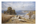 Harvesting on the South Coast Premium Giclee Print by Edmund G. Warren