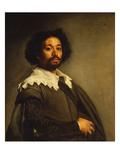 Portrait of Juan De Pareja Gicléedruk van Diego Velázquez
