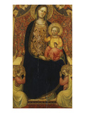 The Madonna and Child Enthroned with Four Angels Giclee Print by  Master of Saint Verdiana