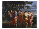 Nymphs Dancing around a Tree Premium Giclee Print by Erasmus Quellinus
