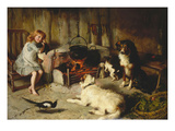 A Watched Pot Never Boils Giclee Print by Alfred Strutt