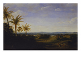 An Extensive Landscape in Brazil with the Portuguese Residence, the Church and the Casa-Grande,… Giclee Print by Frans Jansz Post