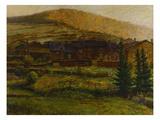 A Norwegian Village Giclee Print by Erik Theodor Werenskiold