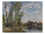 Alfred Sisley - Moret, View of the Loing an Afternoon in May; Moret, Vue Du Loing, Apres-Midi De Mai - Giclee Baskı