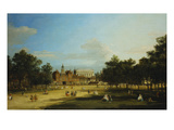 London: the Old Horse Guards and the Banqueting Hall, Whitehall, from St. James's Park, with… Posters by  Canaletto