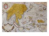 Indiae, Orientalis, Insularumque Adiacientivm Typvs. from 'Theatris Orbis Terrarum' Prints by Abraham Ortelius