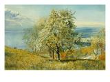 An Alpine Lake Posters par John William Inchbold