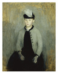 Portrait of Ida Ilsted, Aged Twenty-One, Seated Three-Quarter Length Posters by Vilhelm Hammershoi